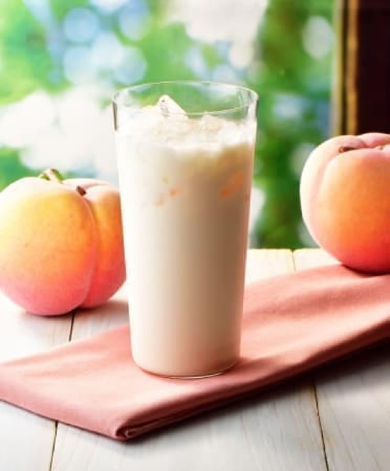 爽やか国産白桃のラッシー カフェ・ド・クリエ
