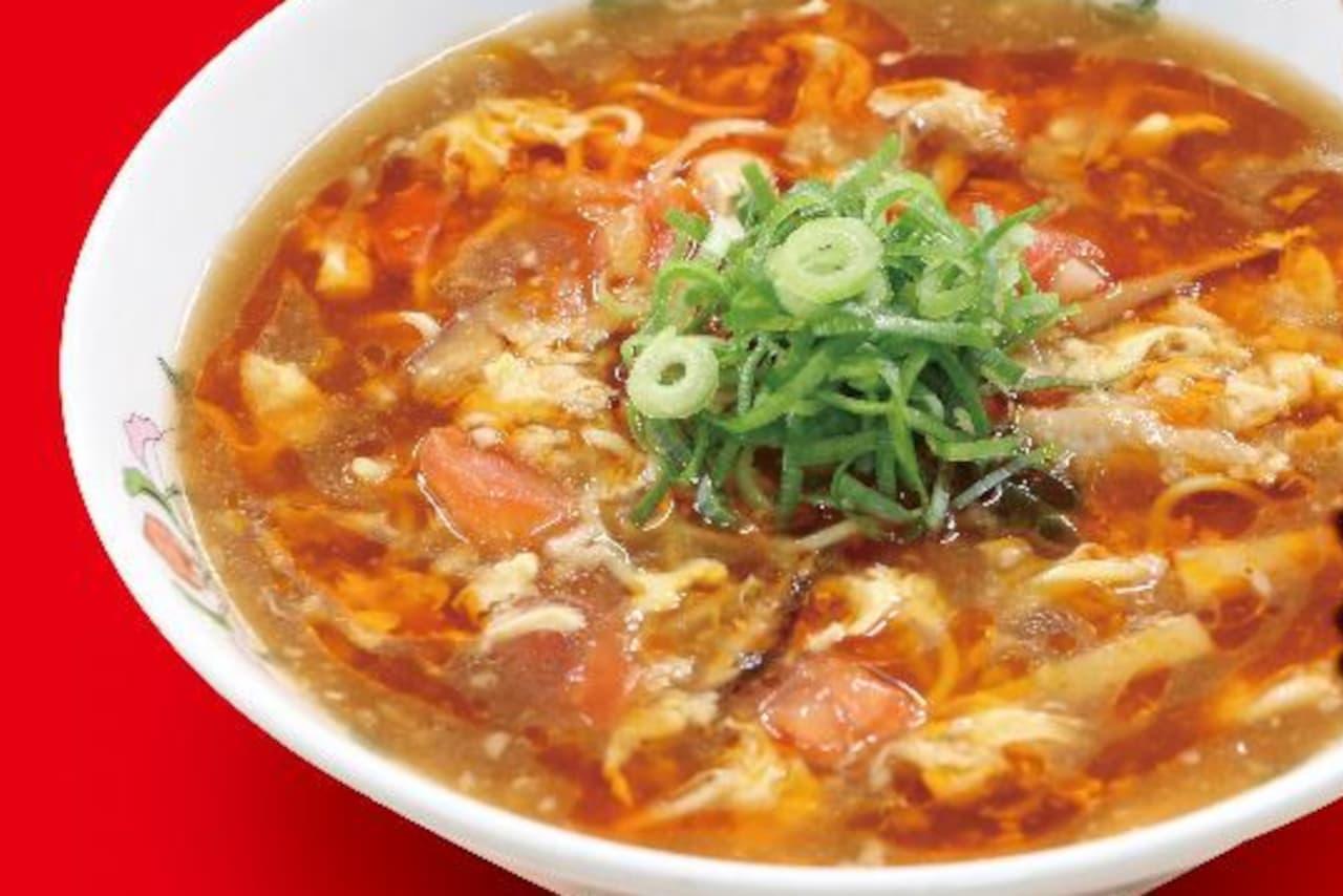 餃子の王将に期間限定「酸辣湯麺」