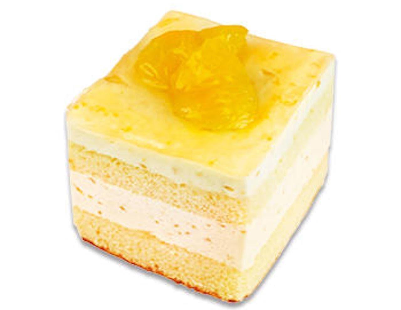 不二家「甘夏のババロアケーキ」