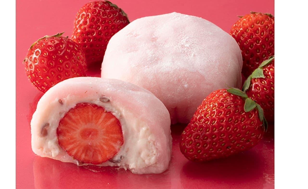 不二家「長野県産夏苺のいちご大福クリーム入り」