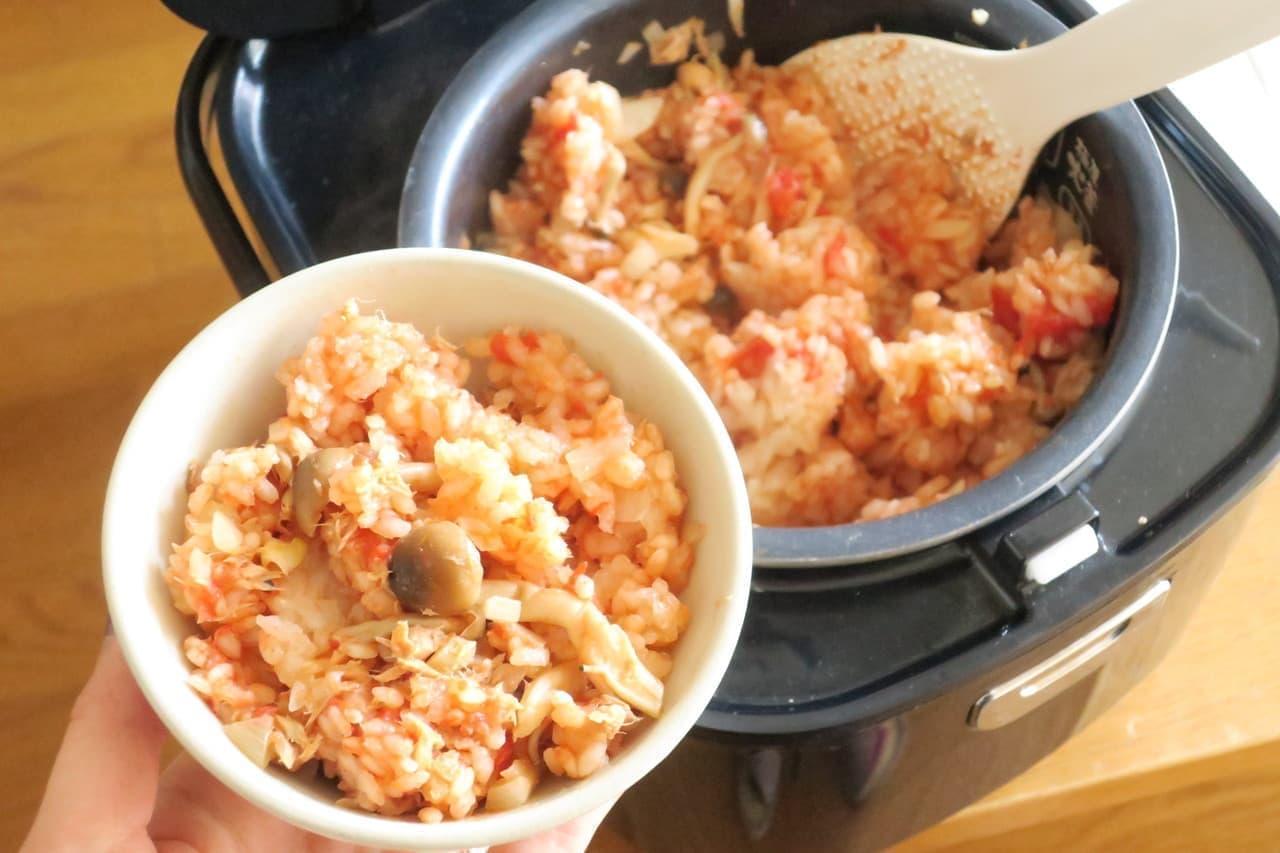 トマト缶&ツナ缶の2種缶詰で簡単!「トマトとツナの炊き込みご飯」レシピ