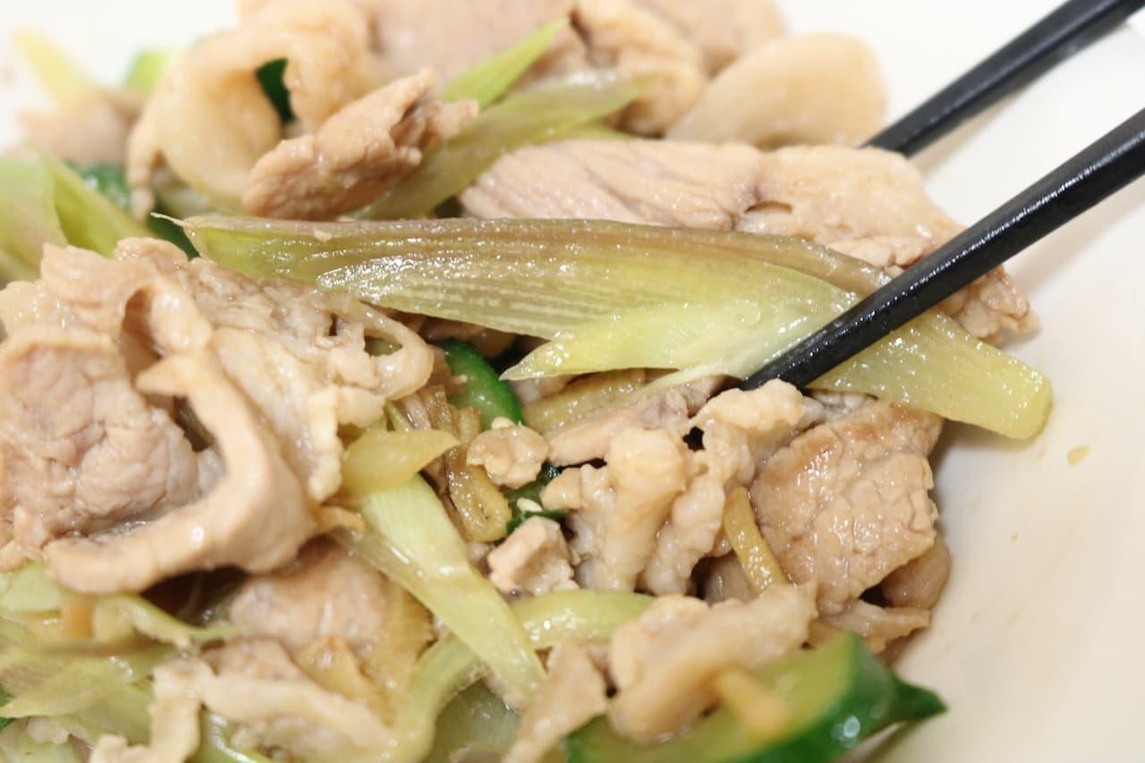 絶品レシピ「ミョウガときゅうりの豚肉炒め」