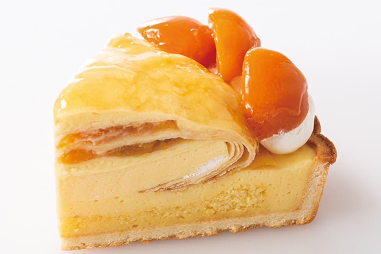 新宿高野に生で食べるあんず「ハーコット」のケーキ