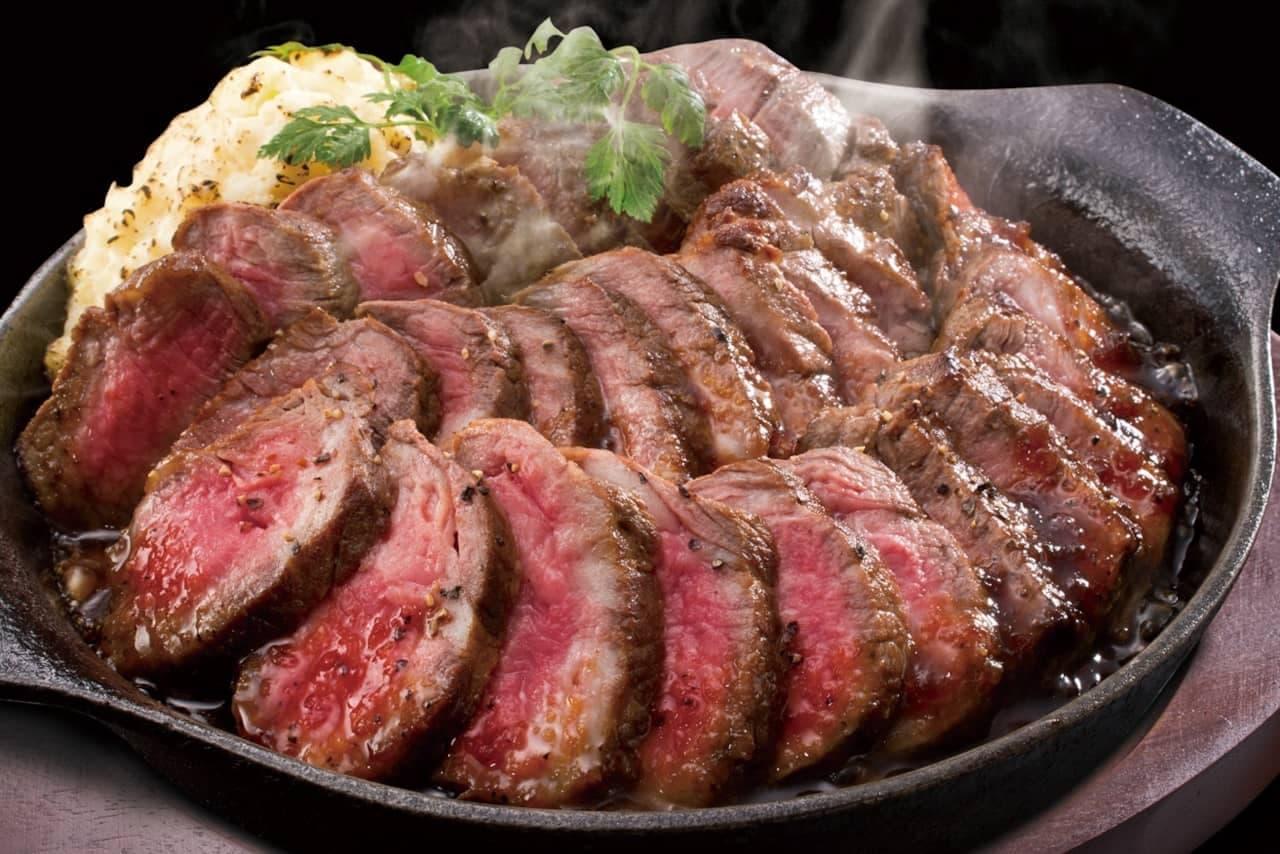 土間土間で「熟成赤身のステーキ」