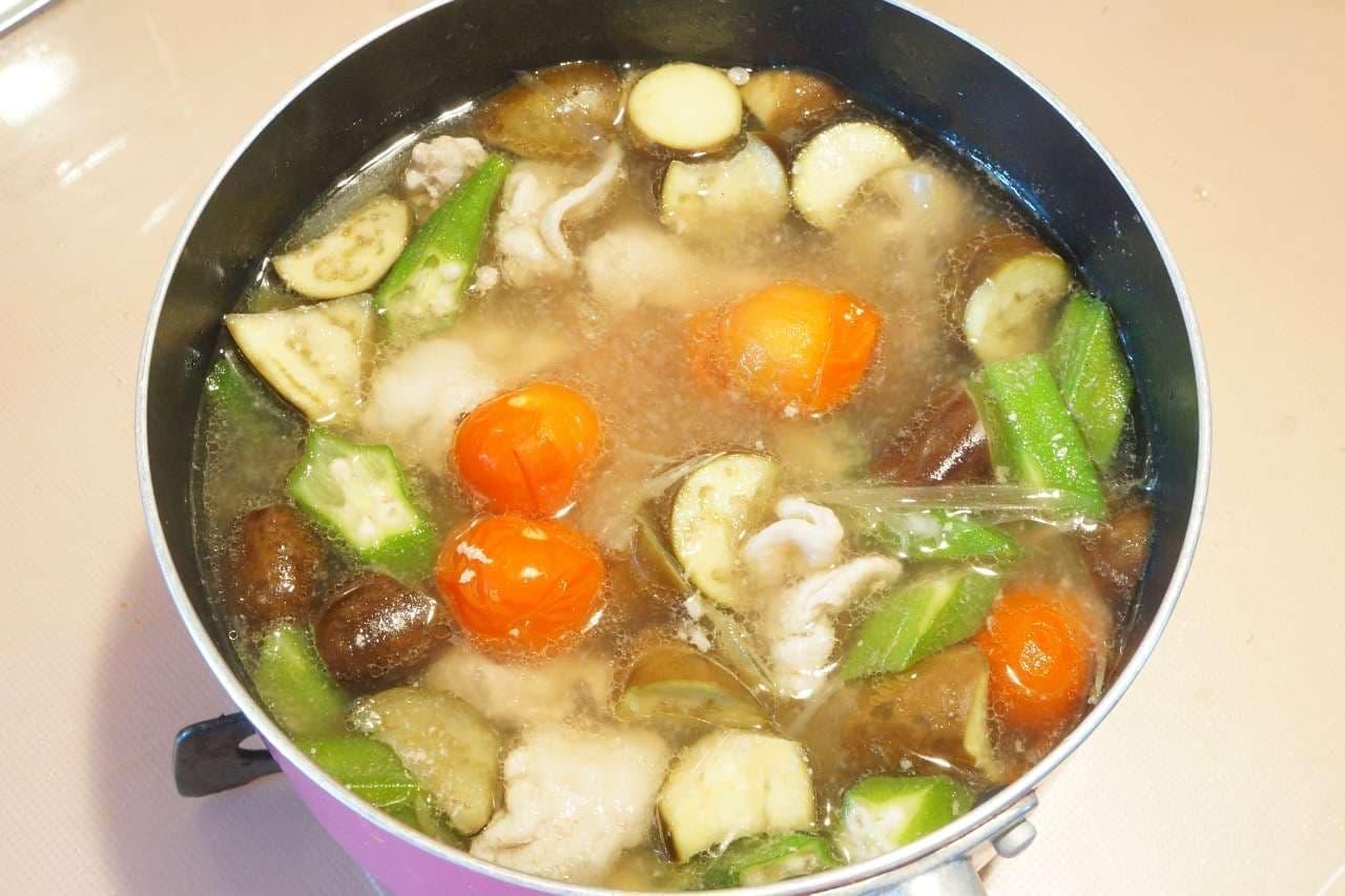 夏野菜で作った豚汁