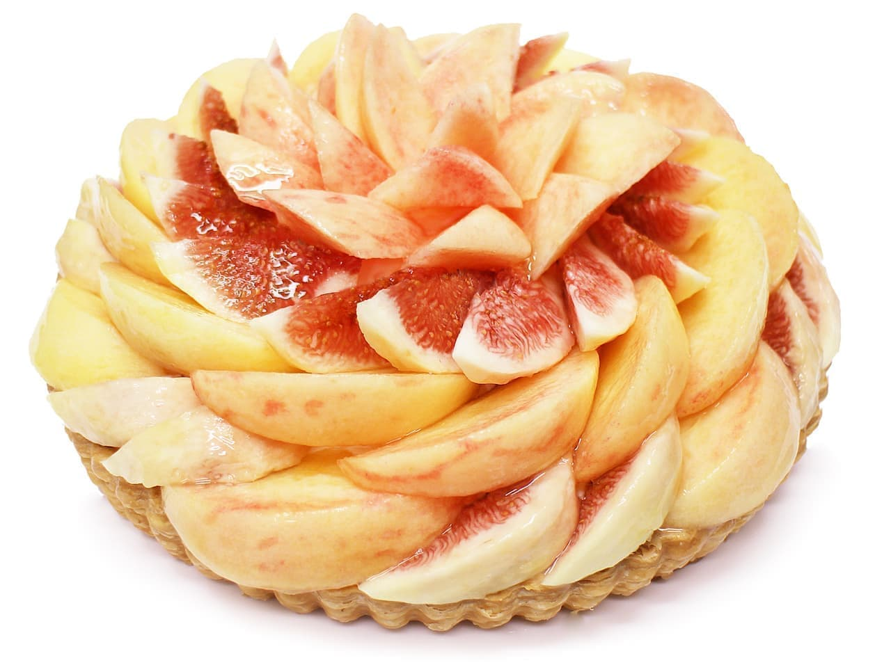 カフェコムサ「桃といちじくのケーキ」