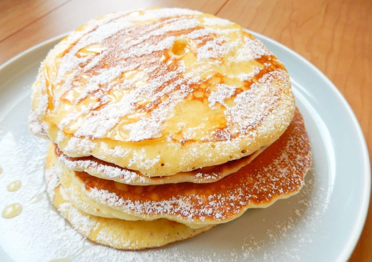 白玉粉を使ったモチモチパンケーキのレシピ