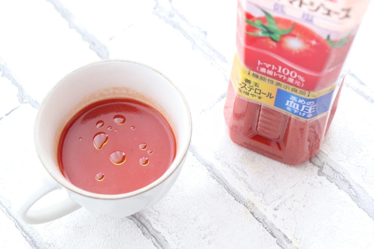 トマトスープレシピ「トマトジュースでお手軽スープ」