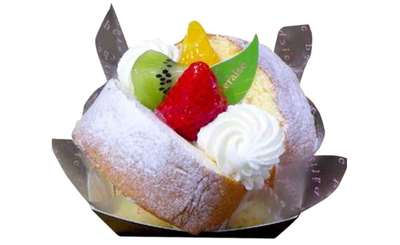 シャトレーゼ「フルーツのデザートロールカップ」