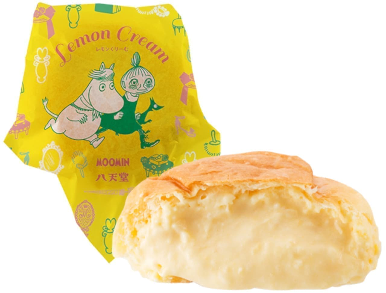 八天堂の「ムーミンコラボ 広島レモンくりーむパン」