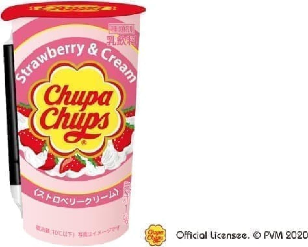 チルドカップ飲料「チュッパチャプス ストロベリークリーム」