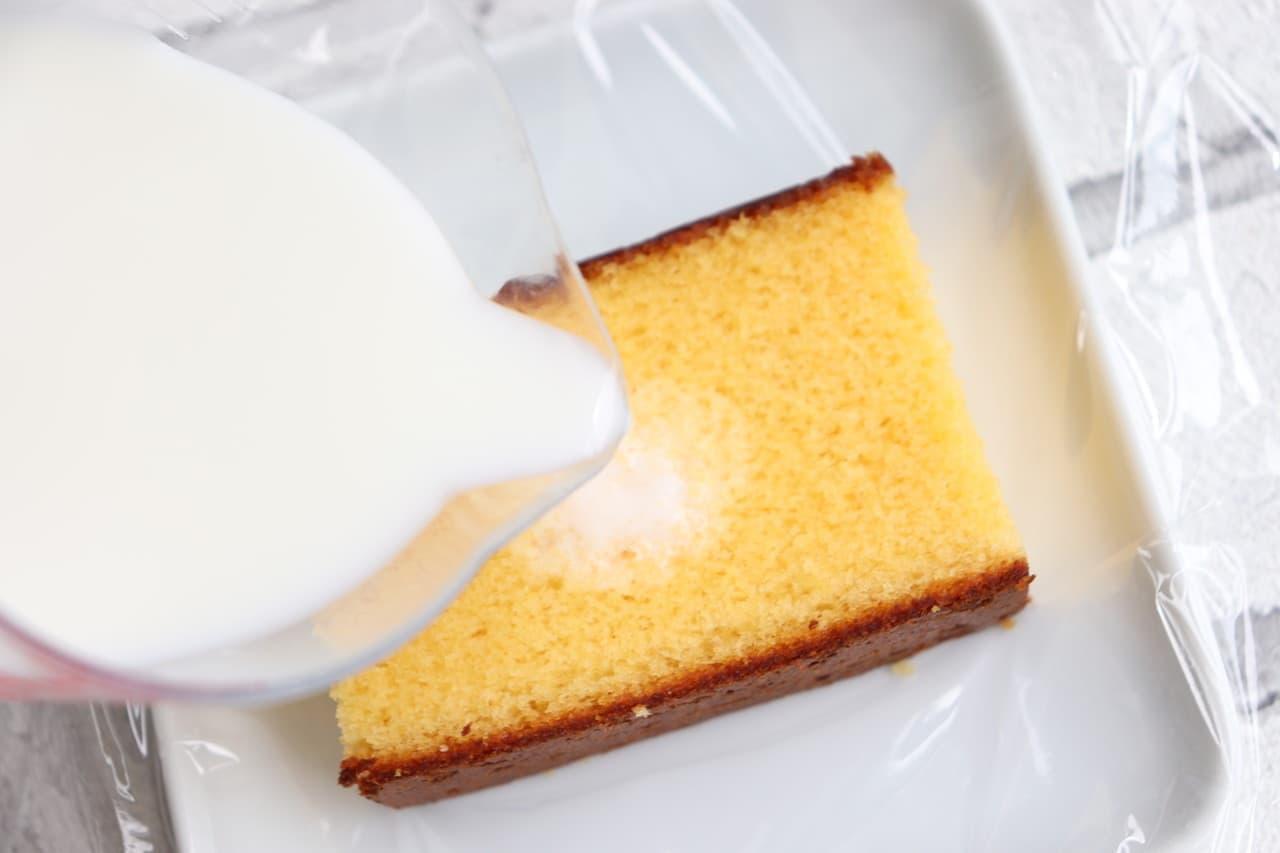 カステラアイスレシピ