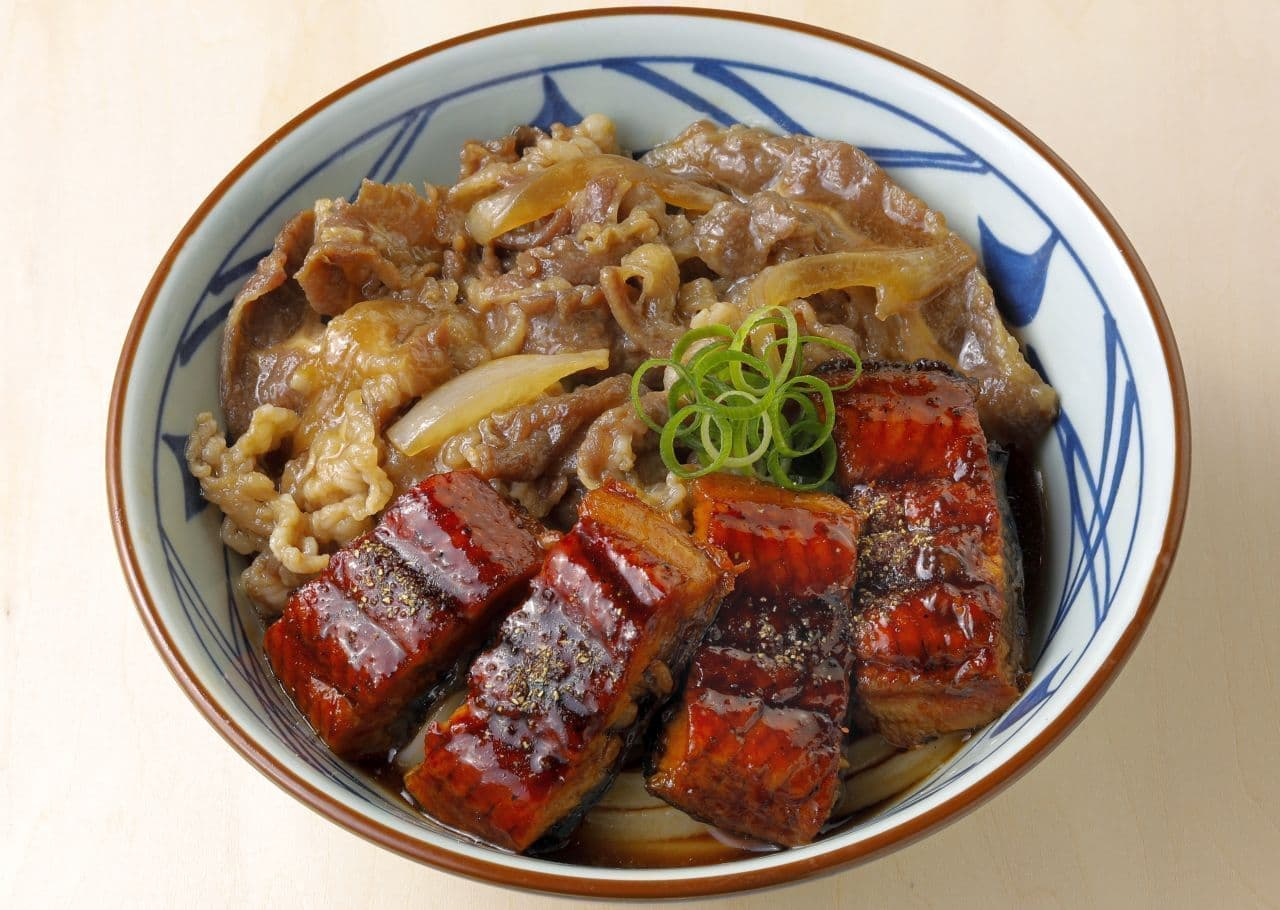 丸亀製麺「牛とうなぎのぶっかけうどん」