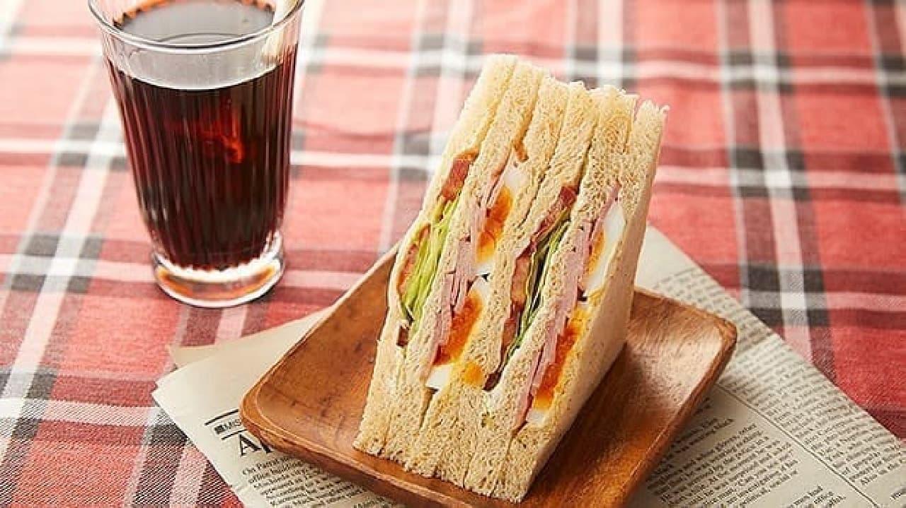 ローソンストア100の「 BLT(全粒粉)サンド」