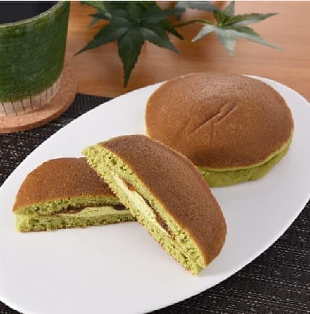 ファミリーマート「抹茶のパンケーキ(黒みつ)」