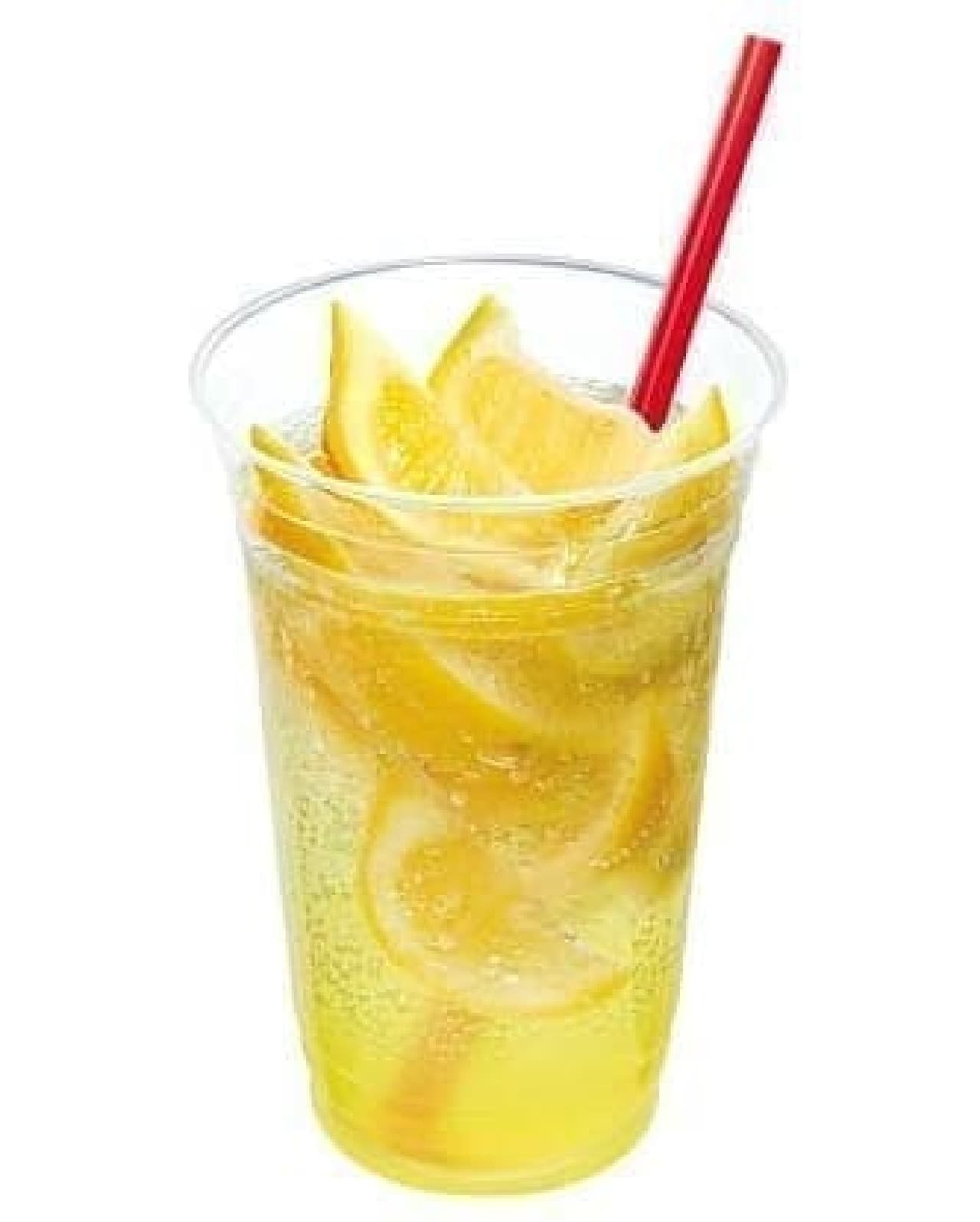 ロッテリア「めっちゃめちゃレモンのレモネードスカッシュ」
