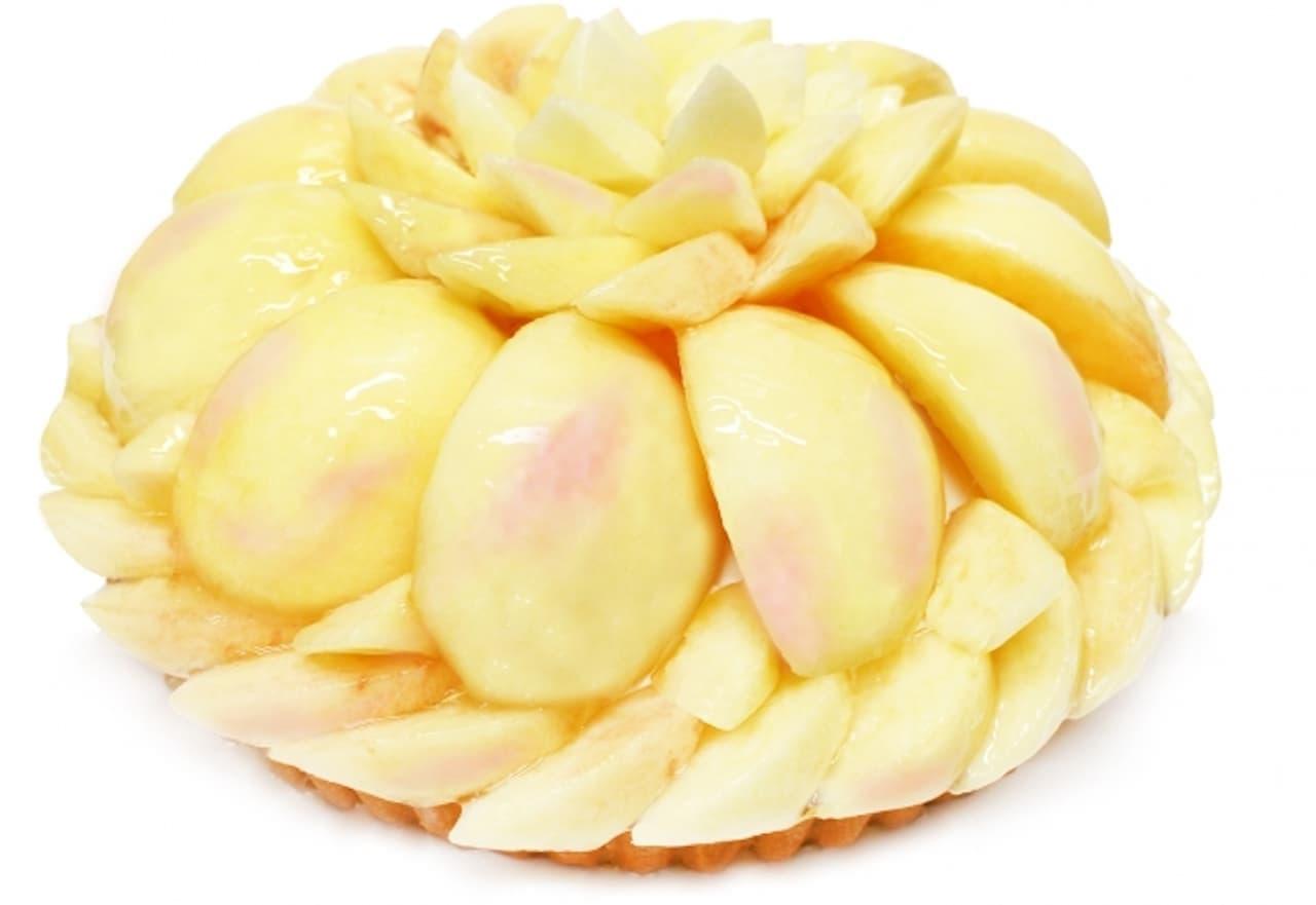 カフェコムサ「福島県産「ミスピーチ」のケーキ」