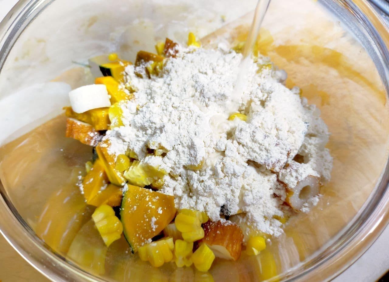 お好み焼きの粉を使った天ぷらのリメイクレシピ