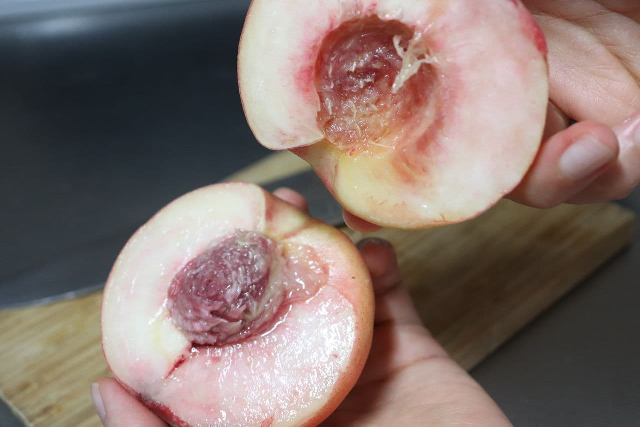 桃のきれいな剥き方