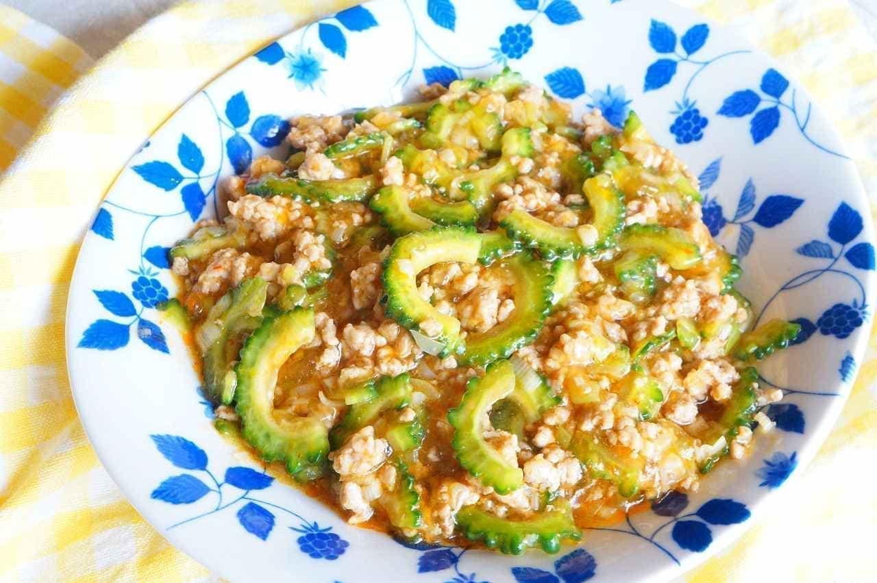 夏野菜レシピ「マーボーゴーヤ」