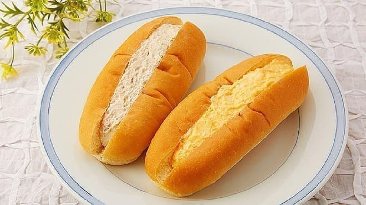 ローソンストア100「ツナこっぺ/玉子サラダこっぺ」