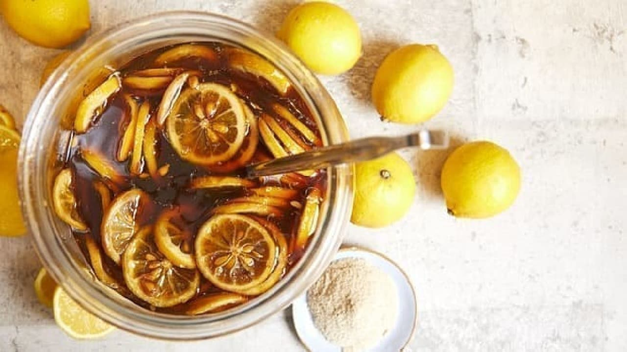 さとうtoレモンの自家製シロップ