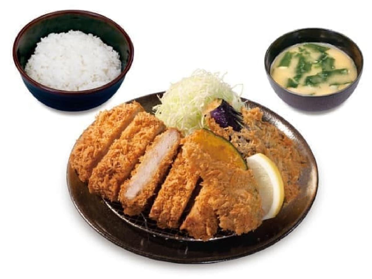 松のや新メニュー「野菜フライ2点盛合わせ定食」