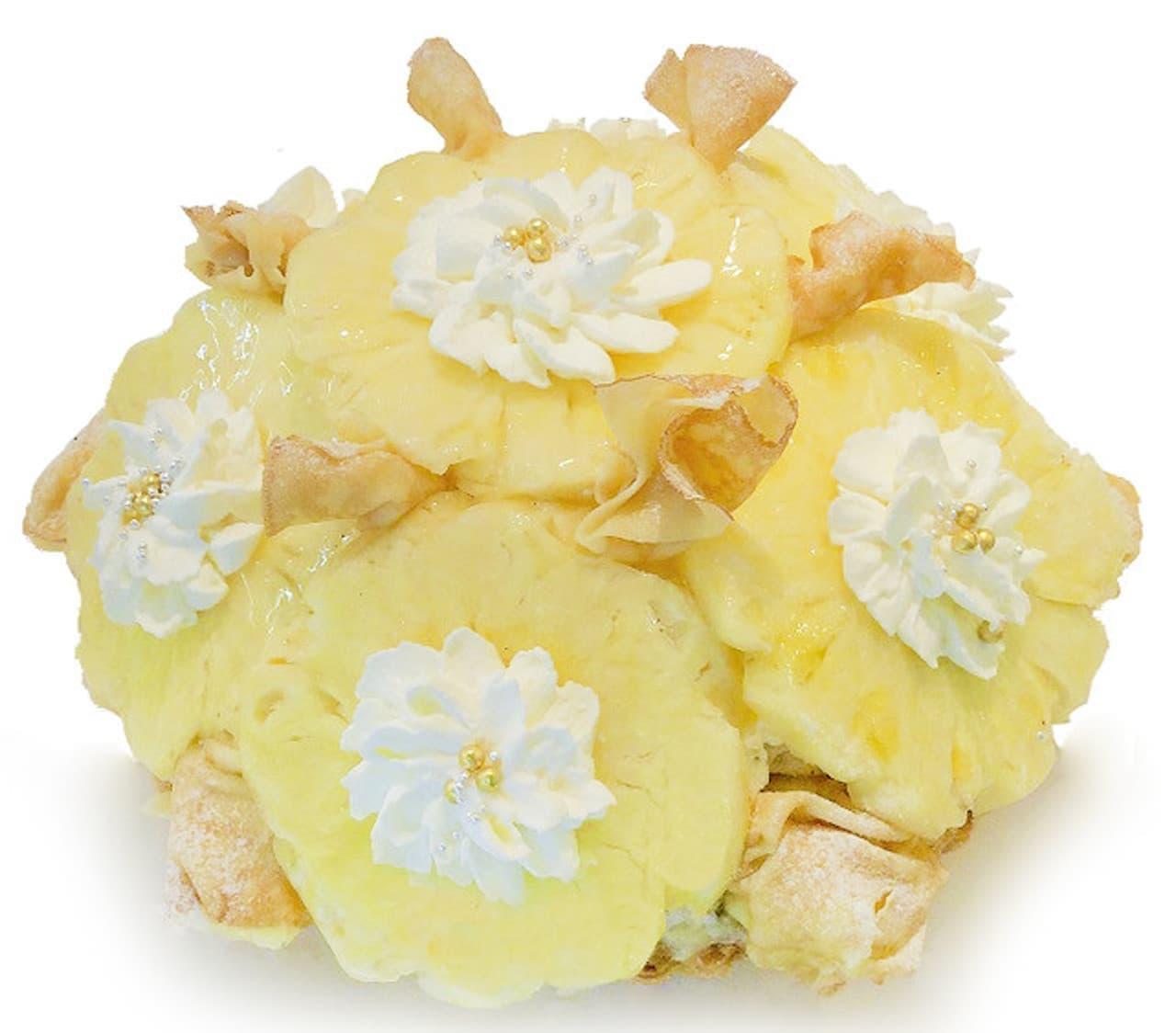 天満橋京阪シティモール店「パイナップルとバニラクリームのミルクレープ」