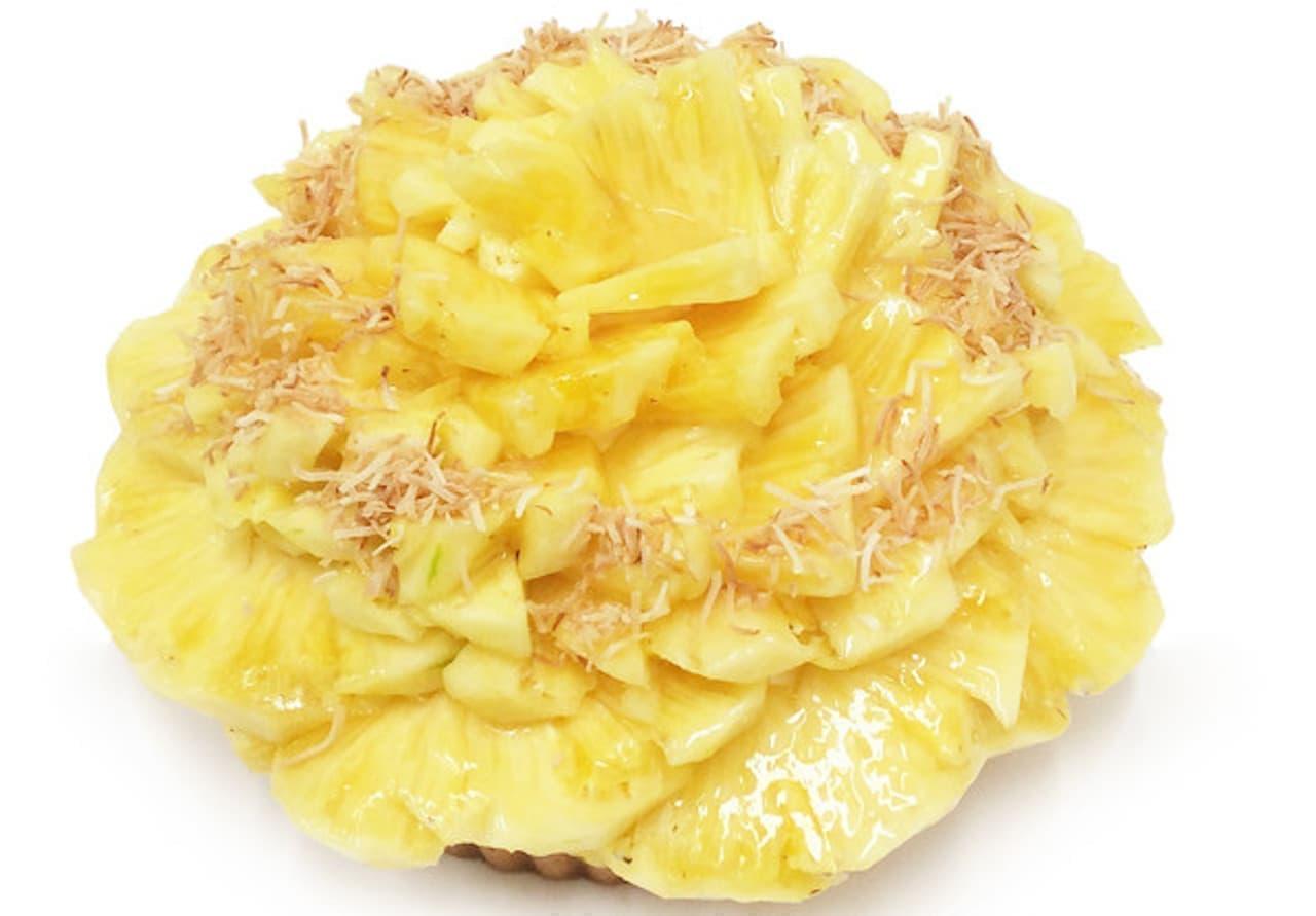 カフェコムサ「パイナップルとココナッツのケーキ」