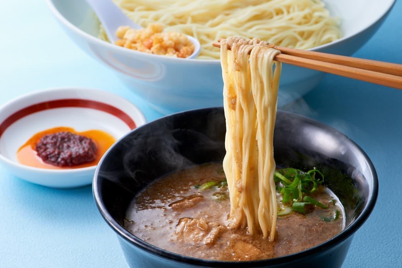 一風堂に「博多細つけ麺~玄米黒酢仕立て~」