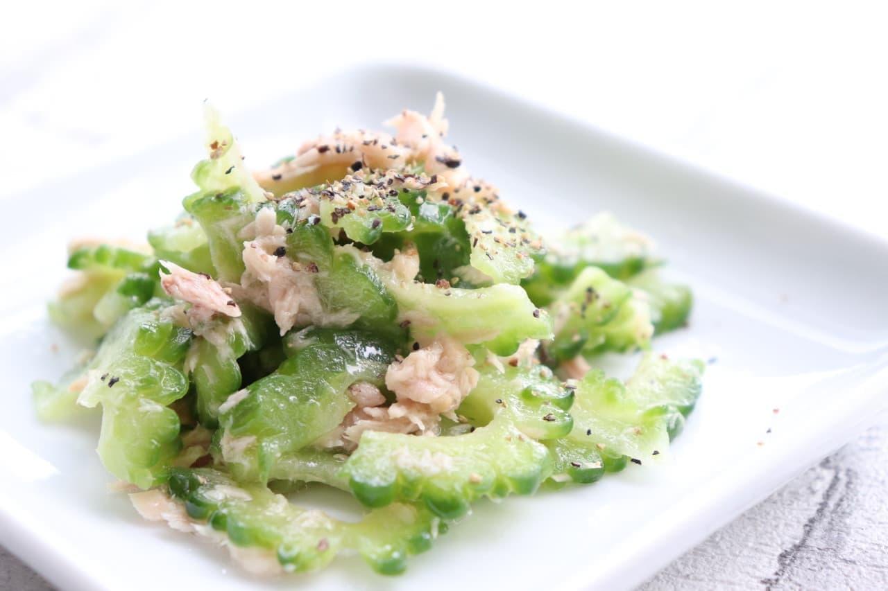 レシピ「ゴーヤのツナサラダ」
