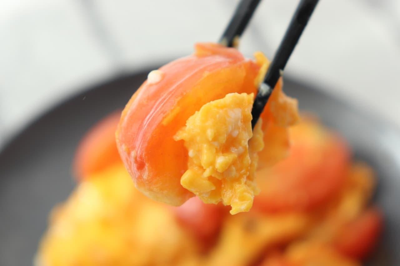 レシピ「トマトと卵の中華炒め」