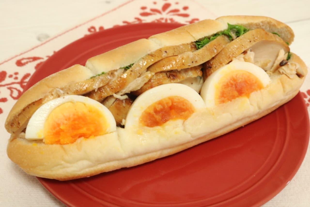 セブン「たんぱく質が摂れる チキン&たまご(チリ)」