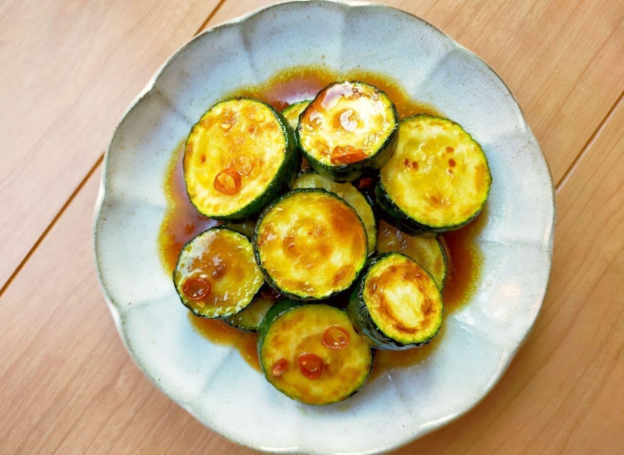 レシピ簡単「ズッキーニの中華風焼きびたし」