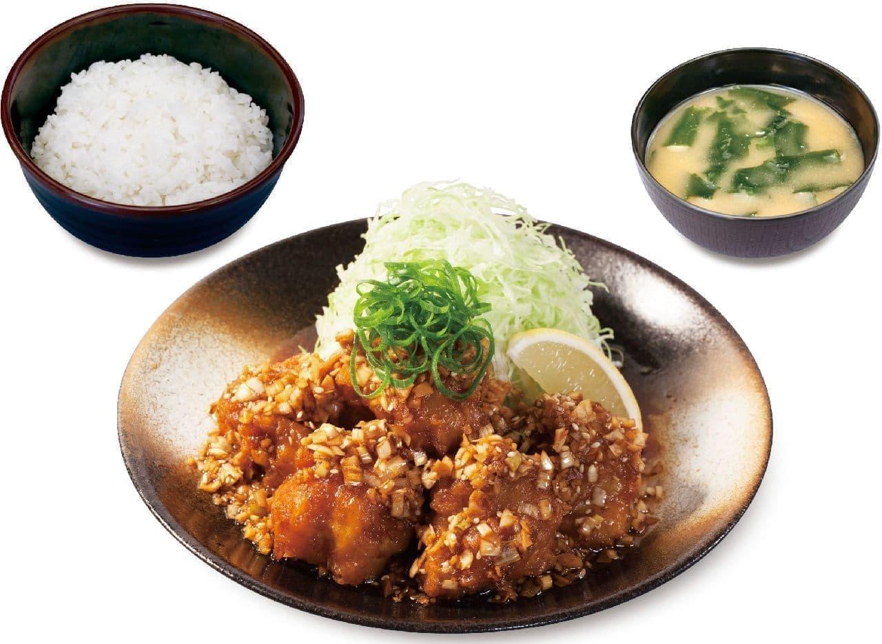 松のや・松乃家「油淋鶏定食」