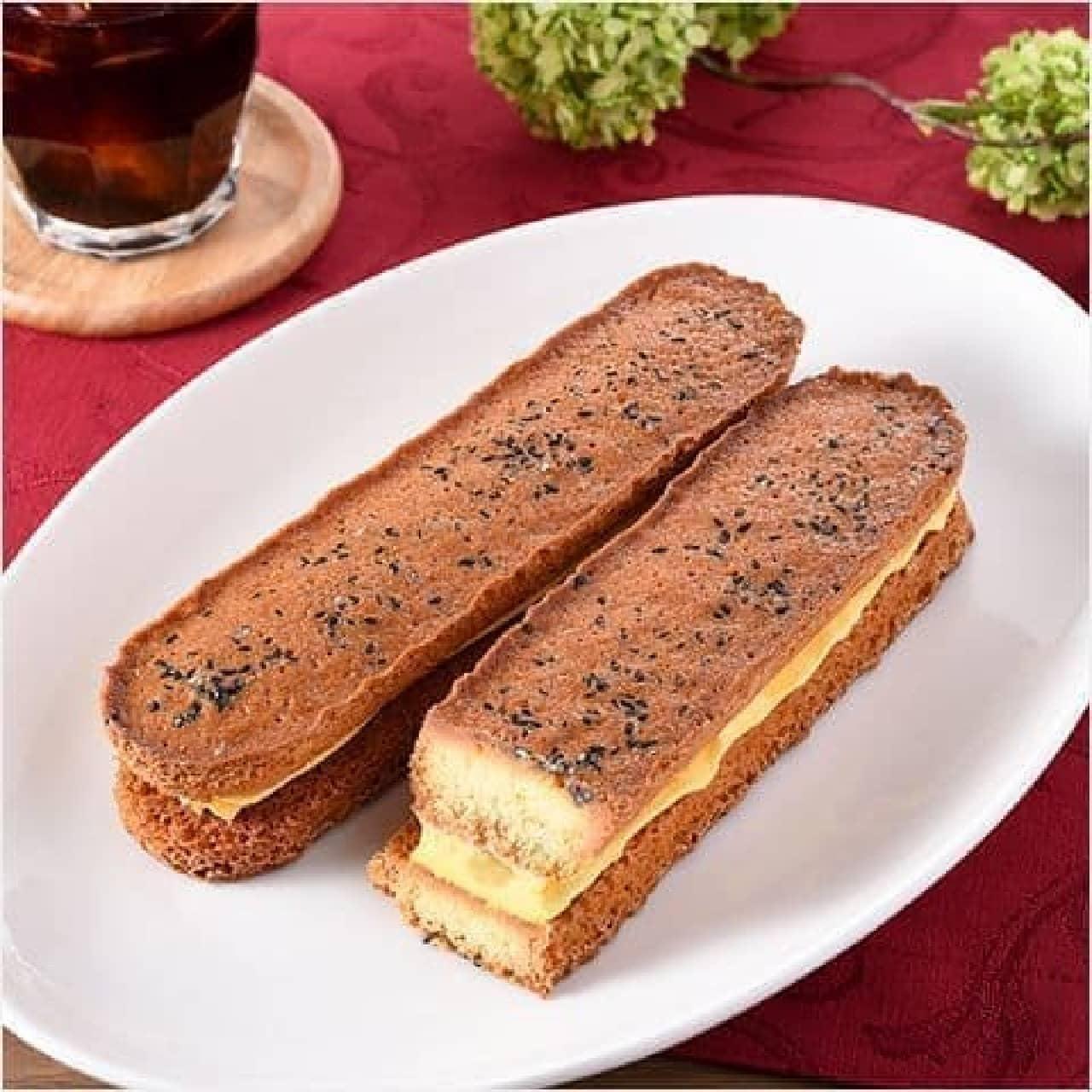 ファミリーマート「香ばしいクッキーのクリームサンド(安納芋)」