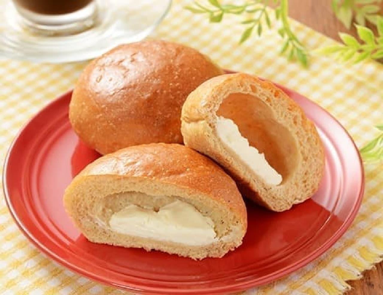 ローソン「NL モーニングオルジュ チーズクリーム 2個入」