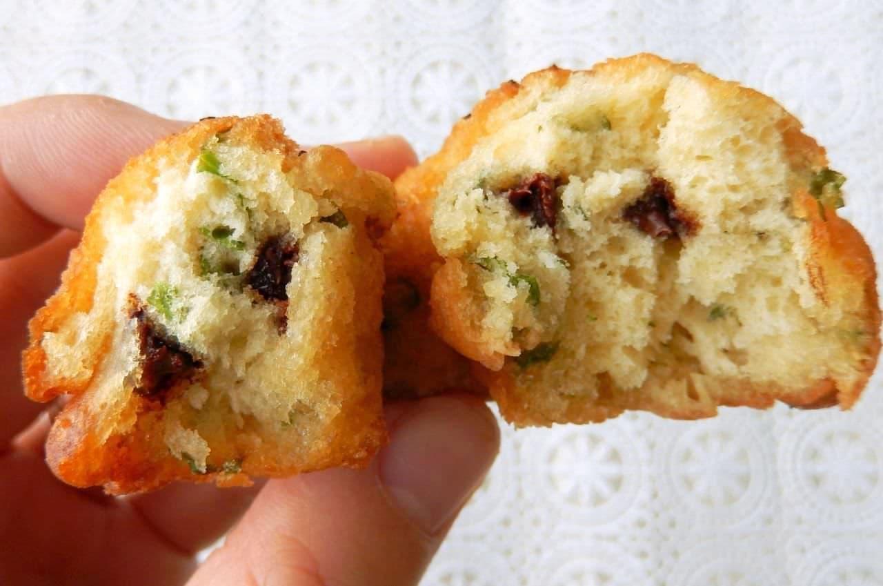 レシピ「チョコミントドーナツ」