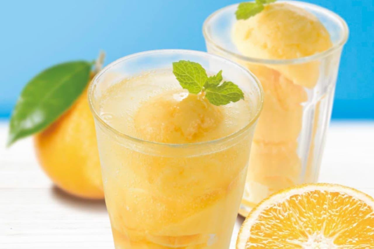上島珈琲店に数量限定「バレンシアオレンジのジェラートソーダ」