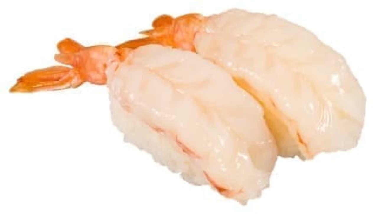 かっぱ寿司「超ダブルぅ赤えび」