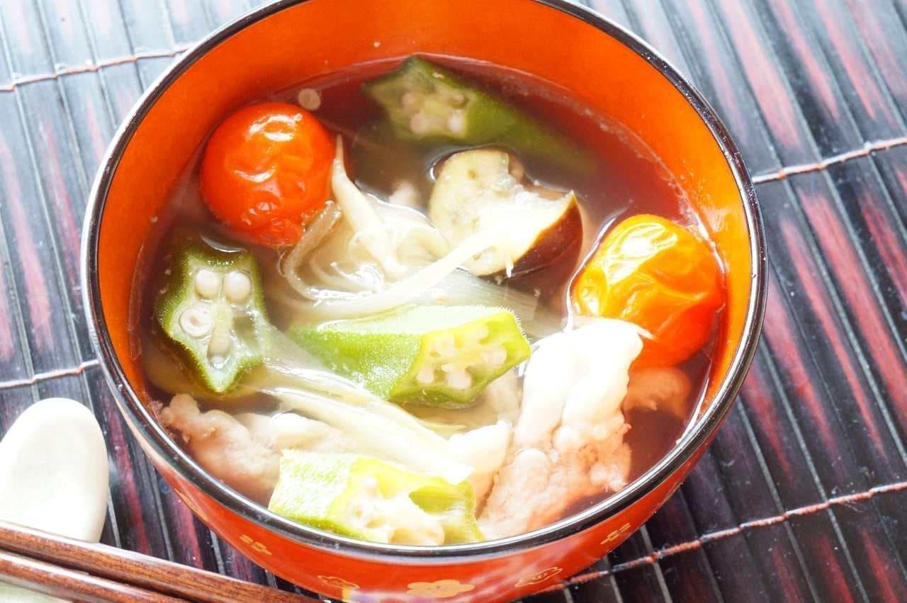 夏野菜を使った豚汁