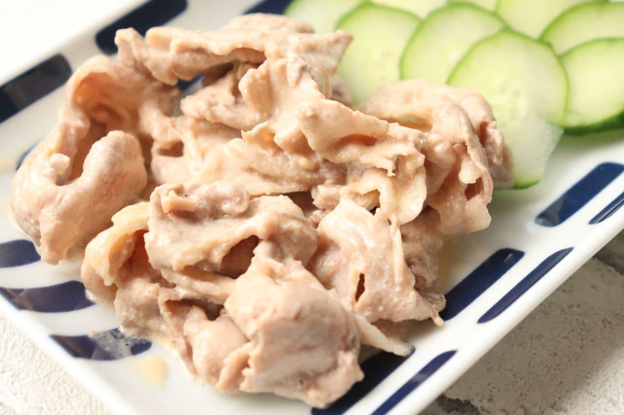 豚肉の辛子マヨ和え
