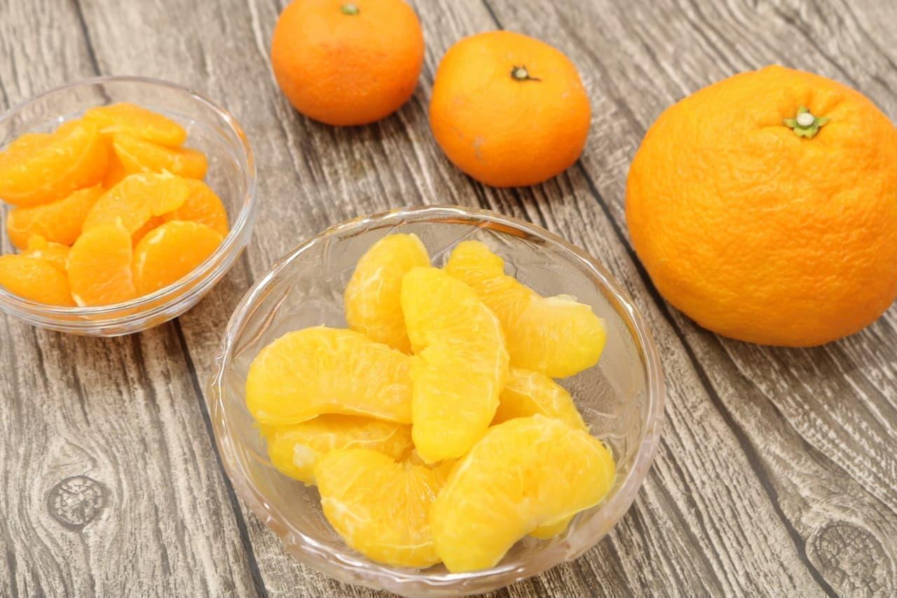 柑橘の袋の剥き方