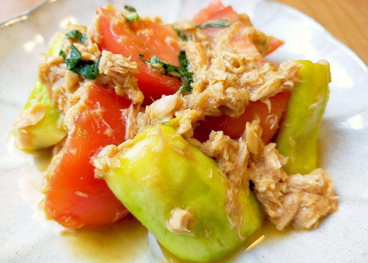 「なすとトマトのツナ和え」簡単レシピ