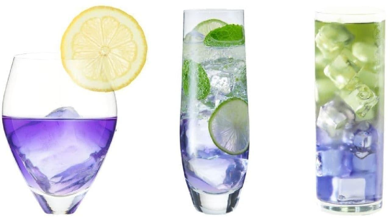 天然由来の青い日本酒「青藍(せいらん)」