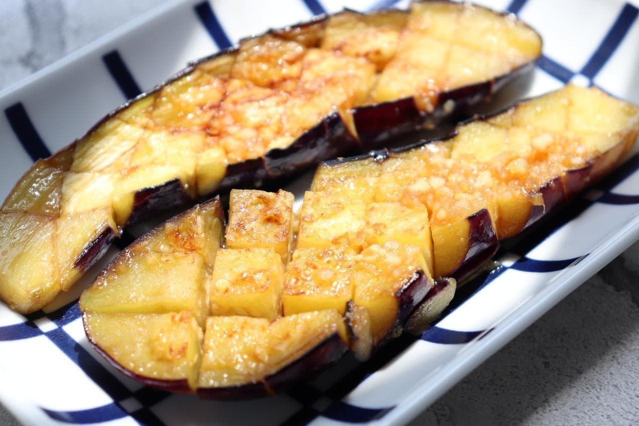 〔レシピ記事〕なすのガーリック醤油焼き