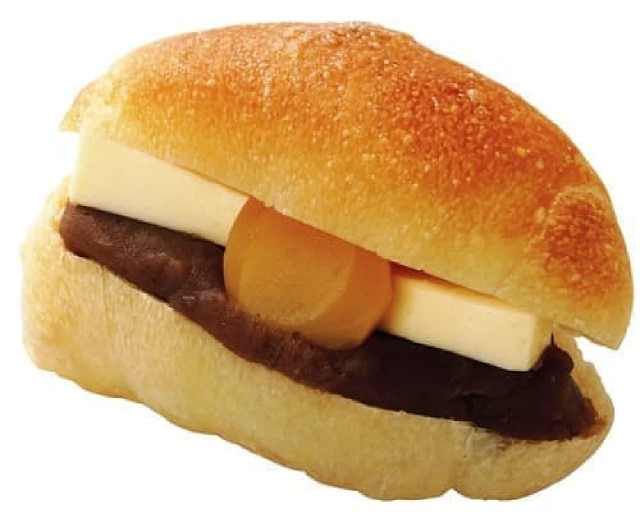 クイーンズベーカリーの「塩パン栗あんバター」