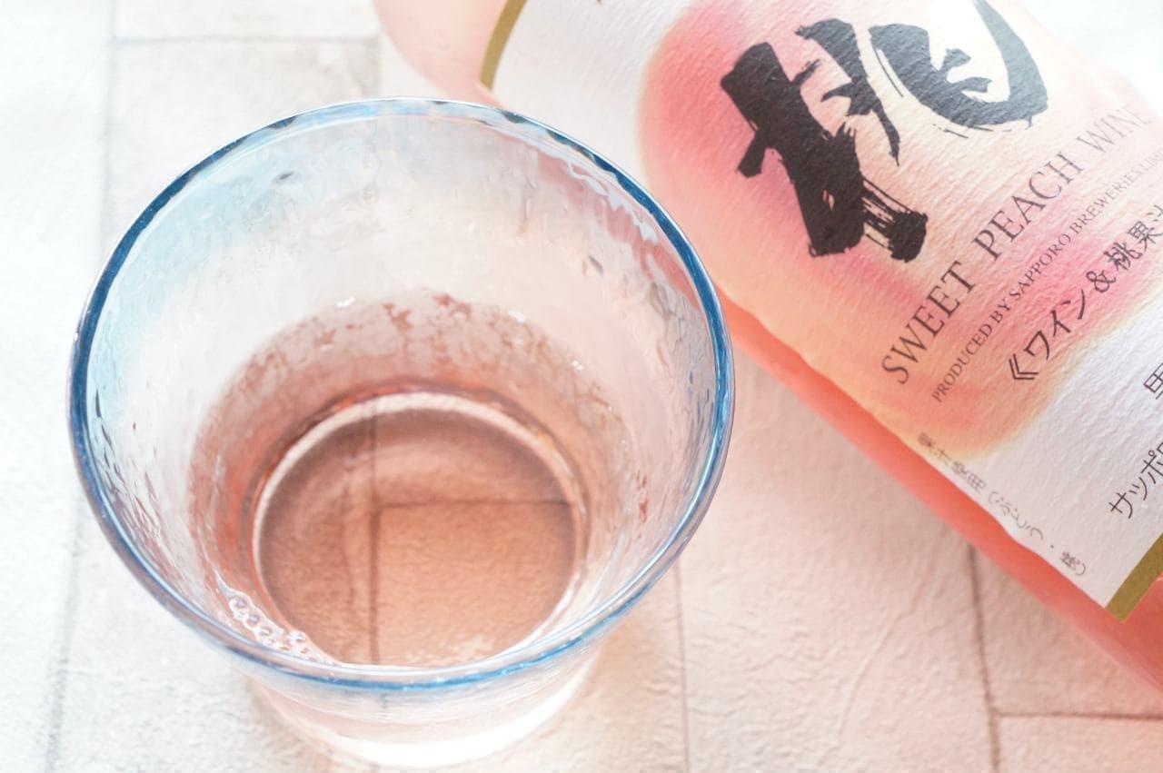 サッポロビールの「桃のワイン」