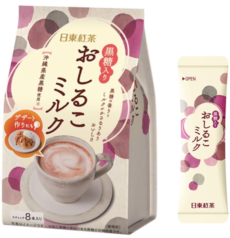 三井農林「日東紅茶 黒糖入りおしるこミルク8本入り」