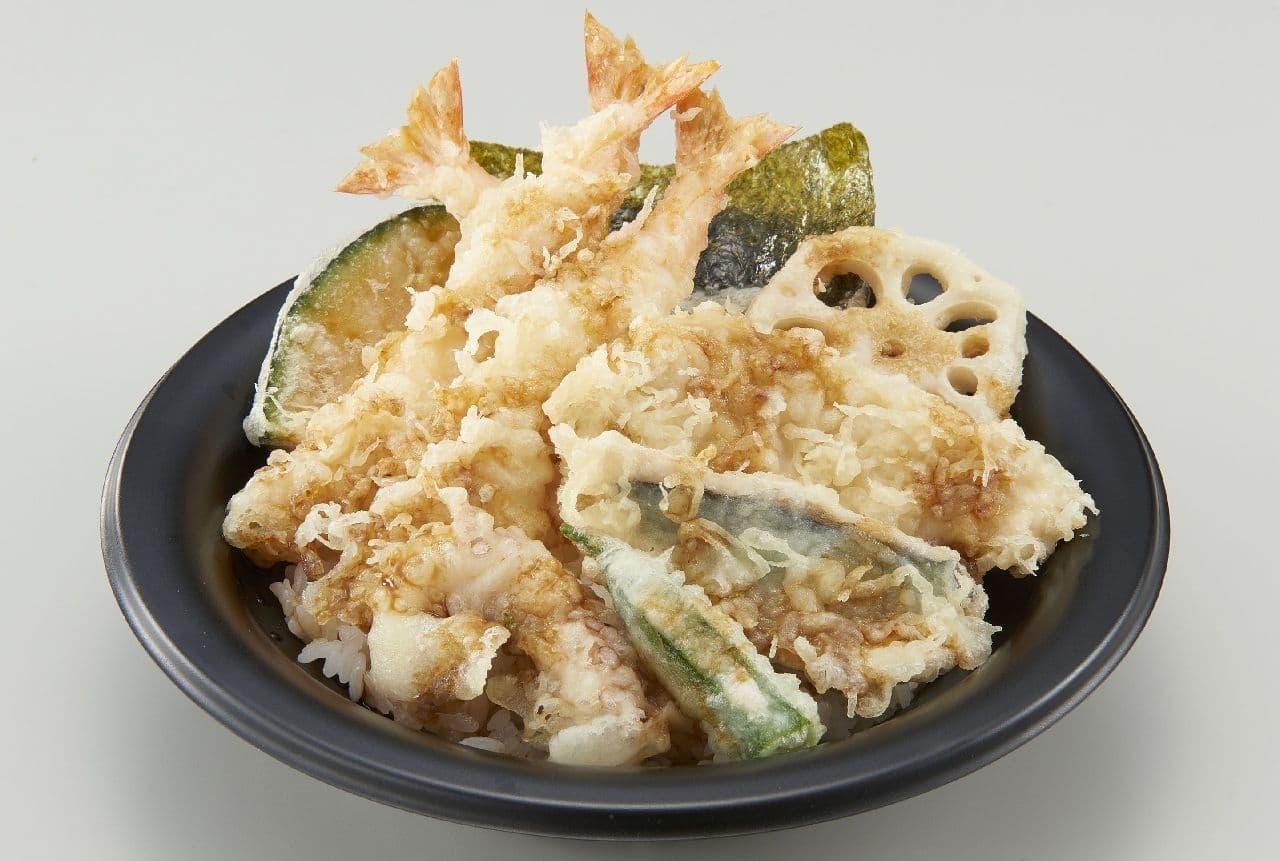 和食さと「にぎやか海老天丼」